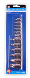 "BlueSpot 12 Pce 1/4"" (T10-T40) & 3/8"" (T40-T60) Torx Socket Set - West Kent Motor Factors"