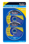 "BlueSpot Twin Pack 115mm (4.5"") Metal Cutting Discs - West Kent Motor Factors"