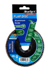"BlueSpot 115mm (4.5"") 40 Grit Aluminium Oxide Flap Disc (Header Card) - West Kent Motor Factors"