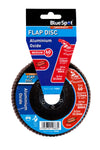 "BlueSpot 115mm (4.5"") 60 Grit Aluminium Oxide Flap Disc (Header Card) - West Kent Motor Factors"