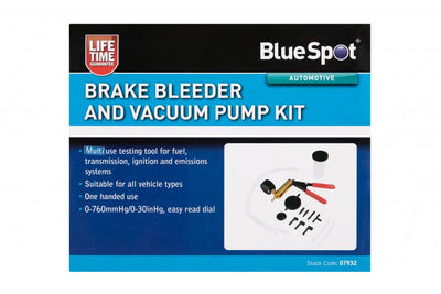 BlueSpot Brake Bleeder & Vacuum Pump Kit