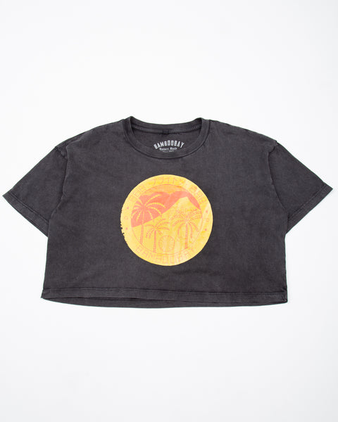 Japanese Stamp Cropped Tee