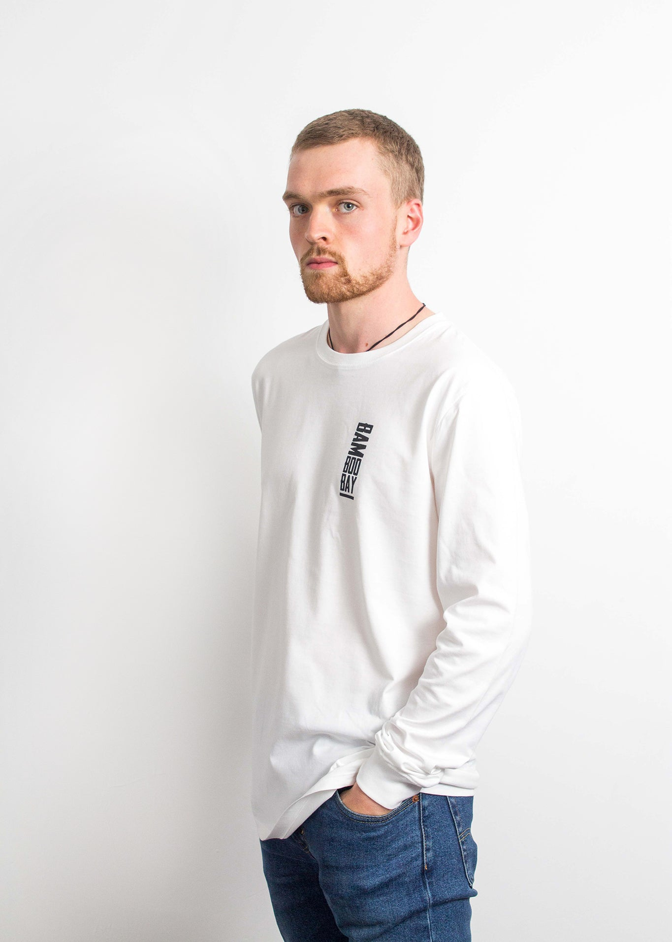 Boo Tee Long Sleeve - White