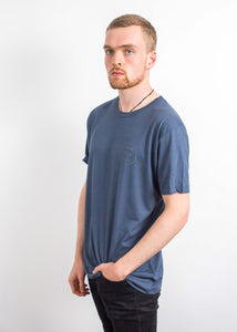 Circular T-Shirt - Denim Blue