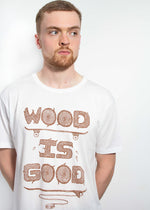 Load image into Gallery viewer, Wood is Good T-Shirt - White