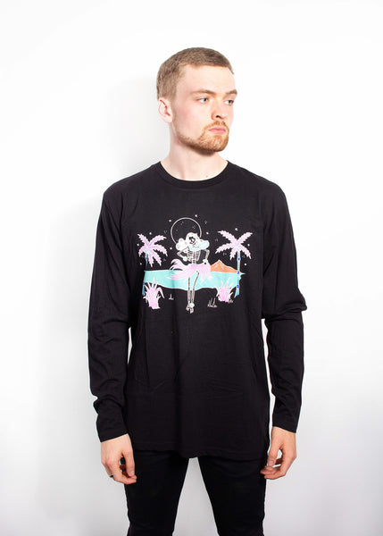 Hula Long Sleeve Tee - Black