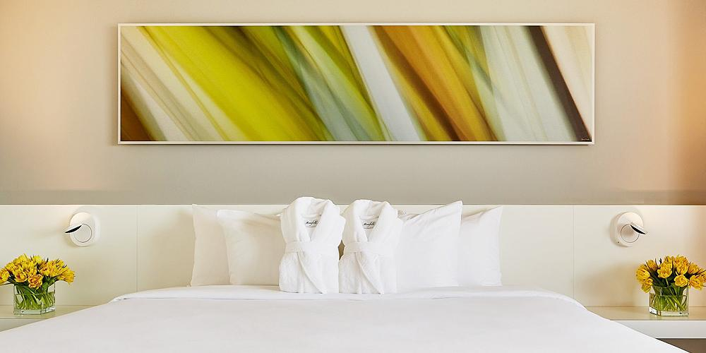 Large Scale Art on Metal for Hotel by Angela Cameron