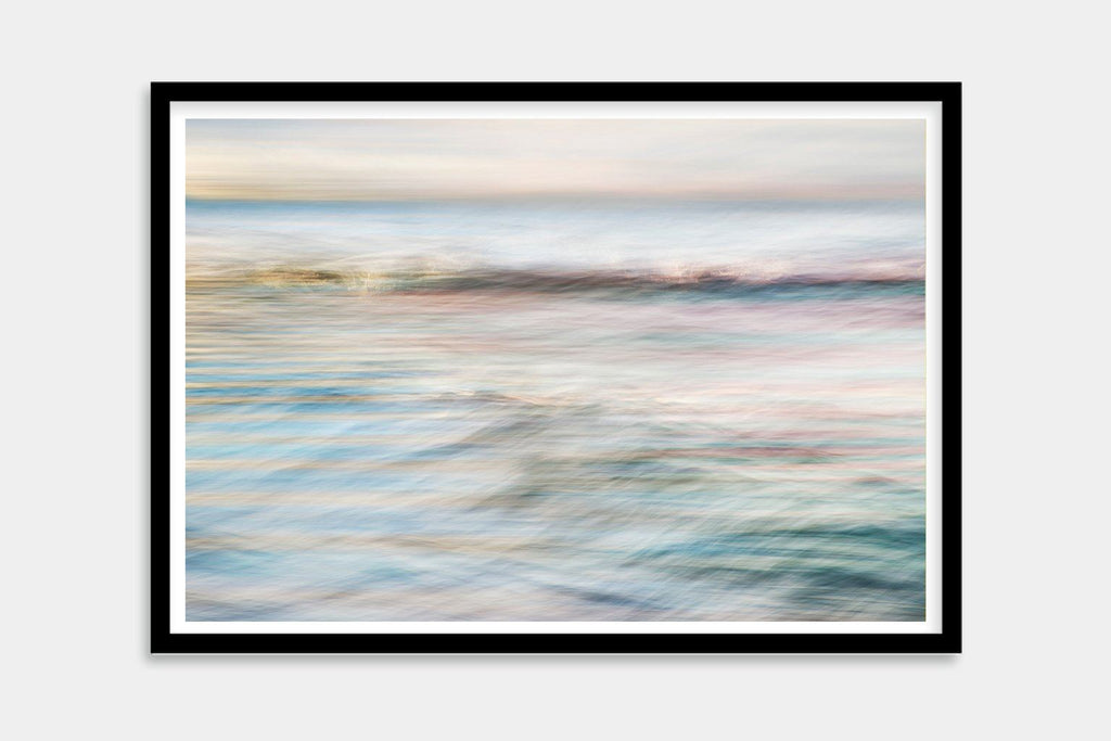 colorful beach framed artwork