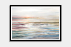colorful seascape fine art framed
