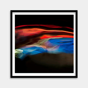 red blue framed art