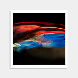 red blue art print
