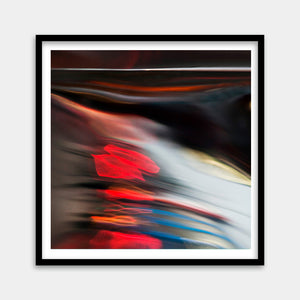 red white blue framed art