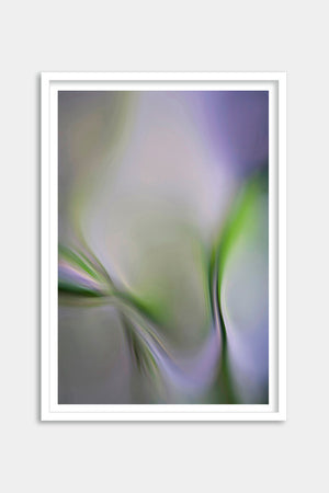 abstract garden art framed