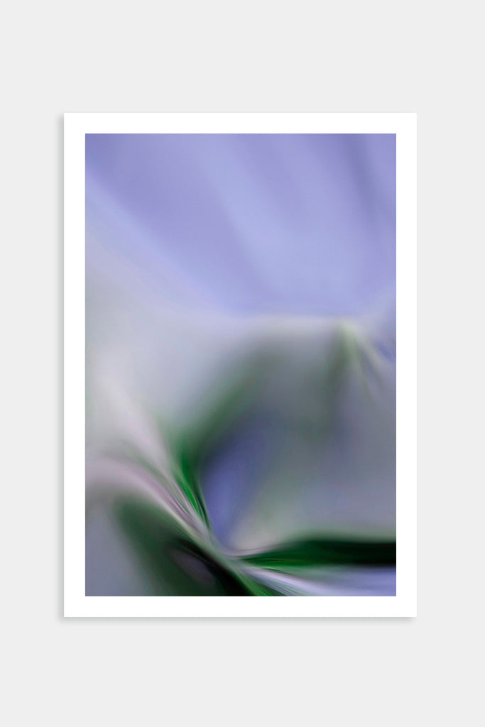 green purple abstract art