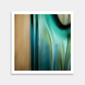 turquoise abstract art print to buy