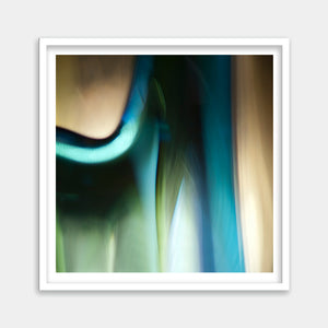 teal framed wall artwork
