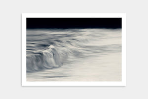 black white seascape art
