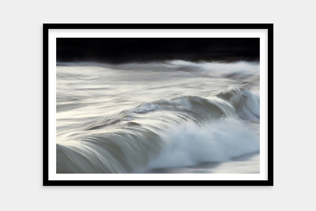 framed crashing wave art