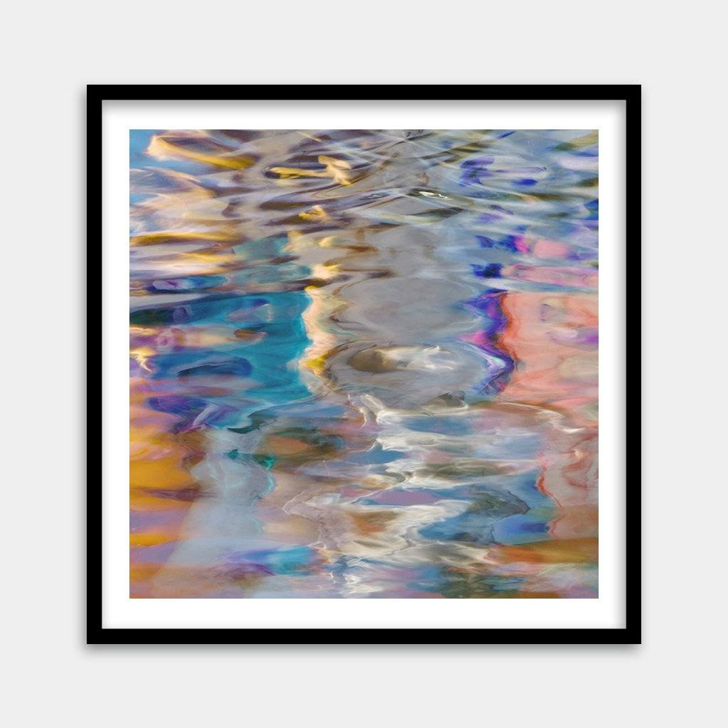 Square colorful water artwork for sale