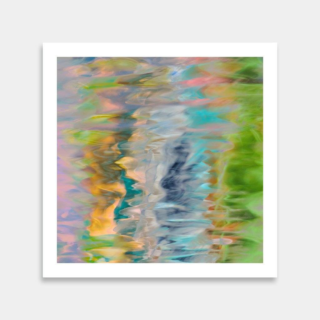 colorful water square art prints to buy