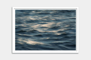 framed ocean blue art
