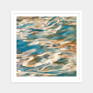 blue and orange framed art online
