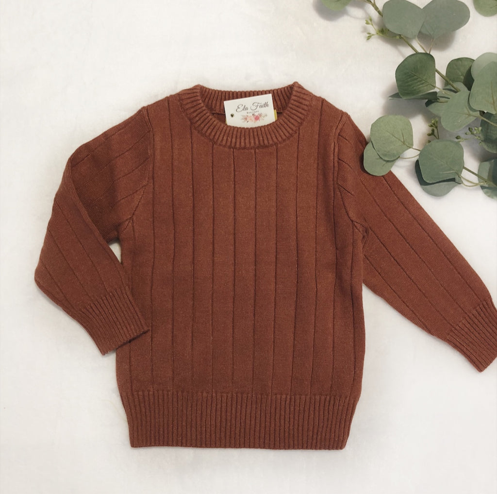 Kelsy sweater - brown red