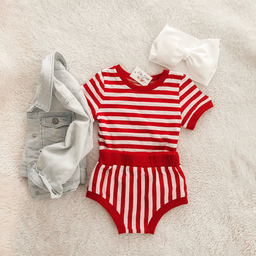 Joyce two piece set - Red