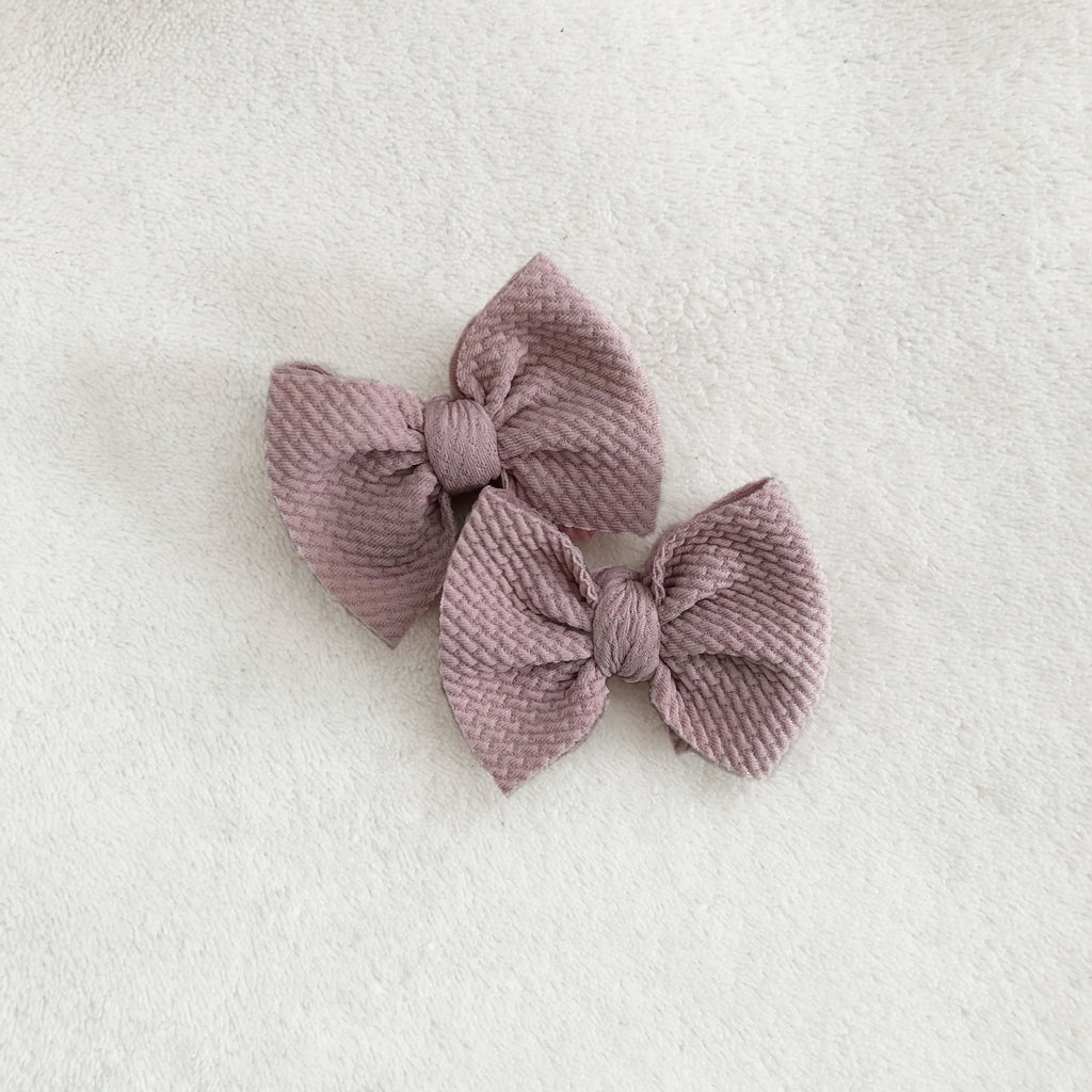 Mauve piggies set