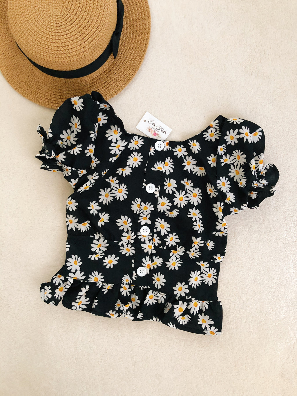 Daisy puff sleeve top