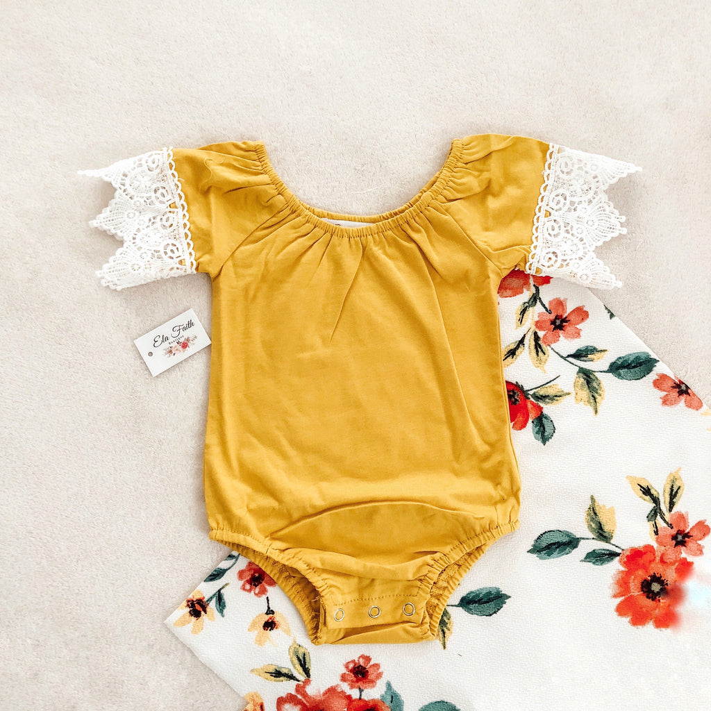 Meliney bodysuit - mustard