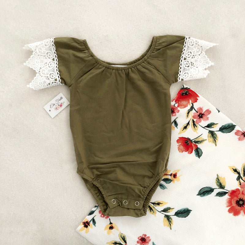 Meliney bodysuit - olive