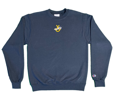 Jaded Crewneck (Navy/Yellow)