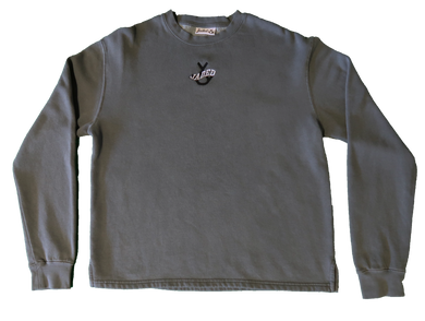 Jaded Overdyed Crewneck (Charcoal Grey)