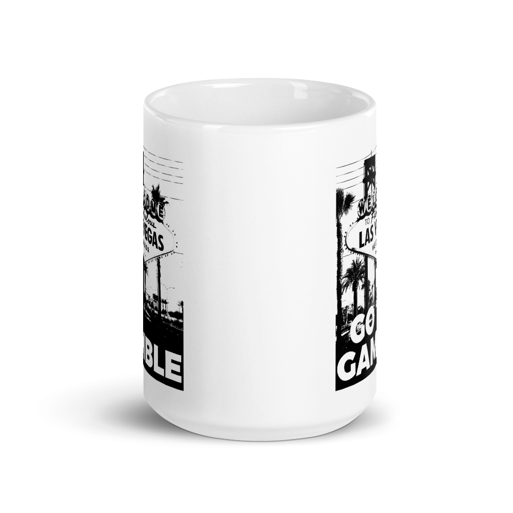 B&W Ink Las Vegas Sign Coffee Mug
