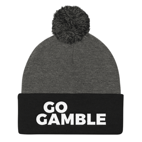 Go Gamble Pom beanie black/grey