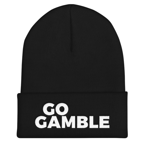 black Go Gamble Cuffed Beanie