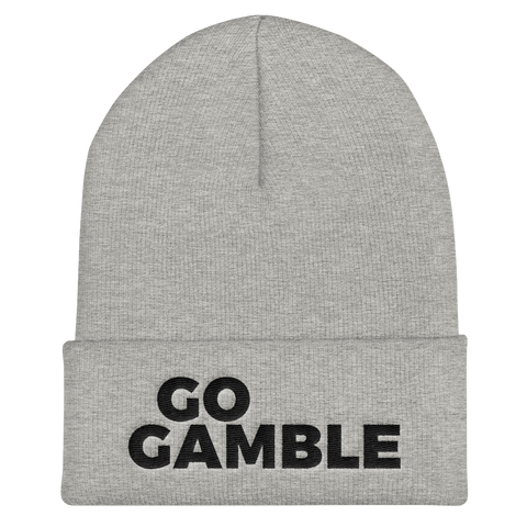 heather grey Go Gamble Cuffed Beanie