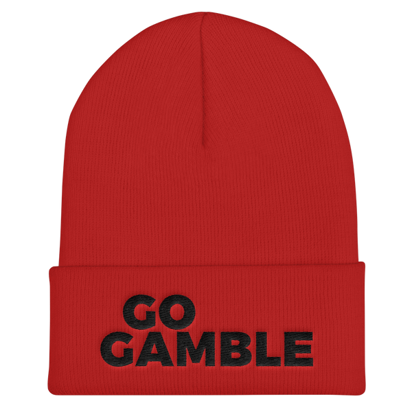 red Go Gamble Cuffed Beanie