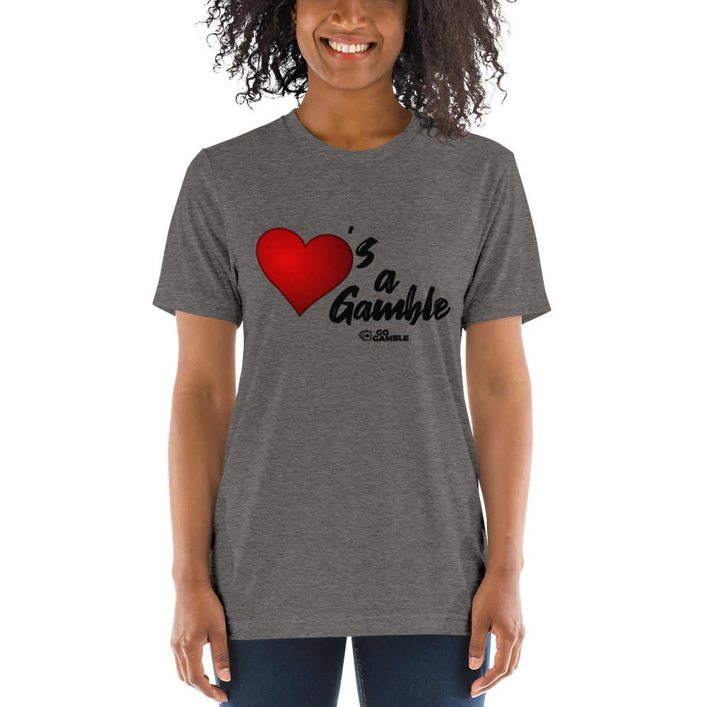 Unisex Love's a Gamble Tri-Blend T-Shirt