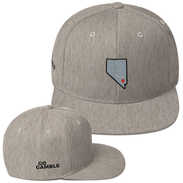 heather grey Location Las Vegas Wool Blend Snapback