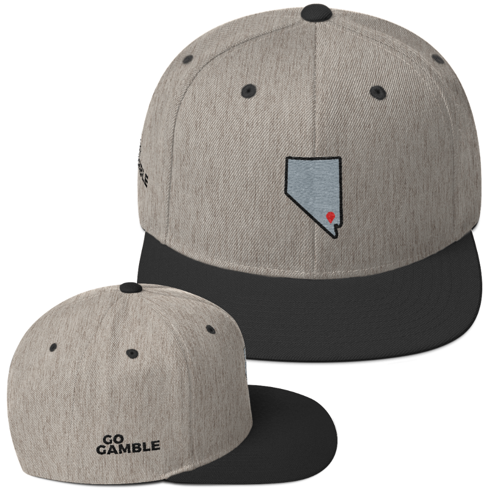 heather grey/black Location Las Vegas Wool Blend Snapback