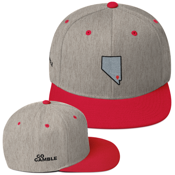 heather grey/red Location Las Vegas Wool Blend Snapback