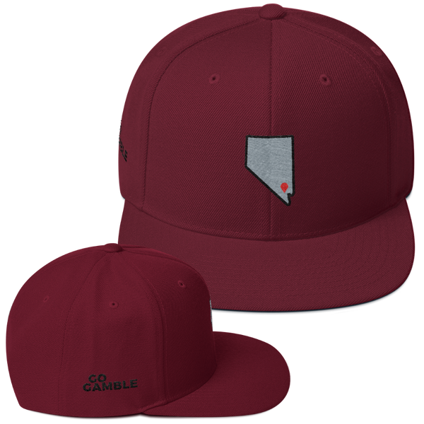 maroon Location Las Vegas Wool Blend Snapback