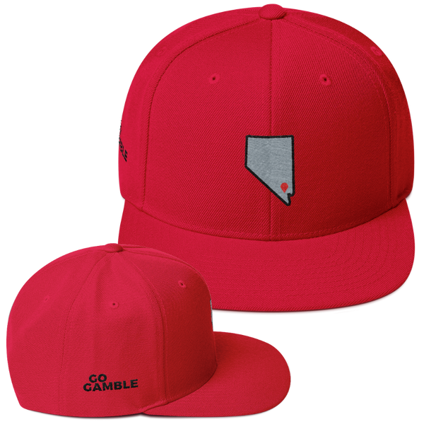 red Location Las Vegas Wool Blend Snapback