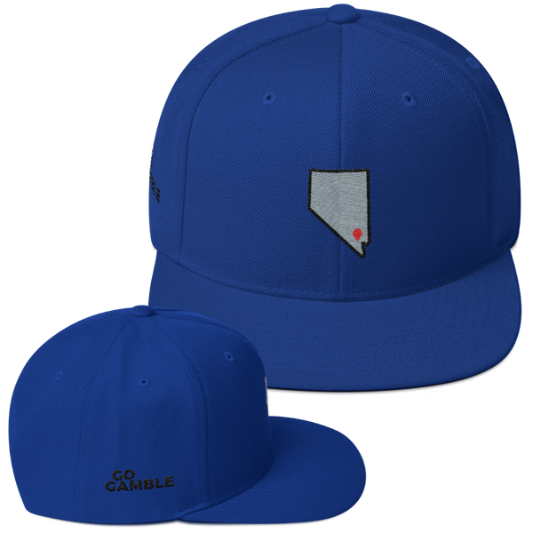 royal blue Location Las Vegas Wool Blend Snapback