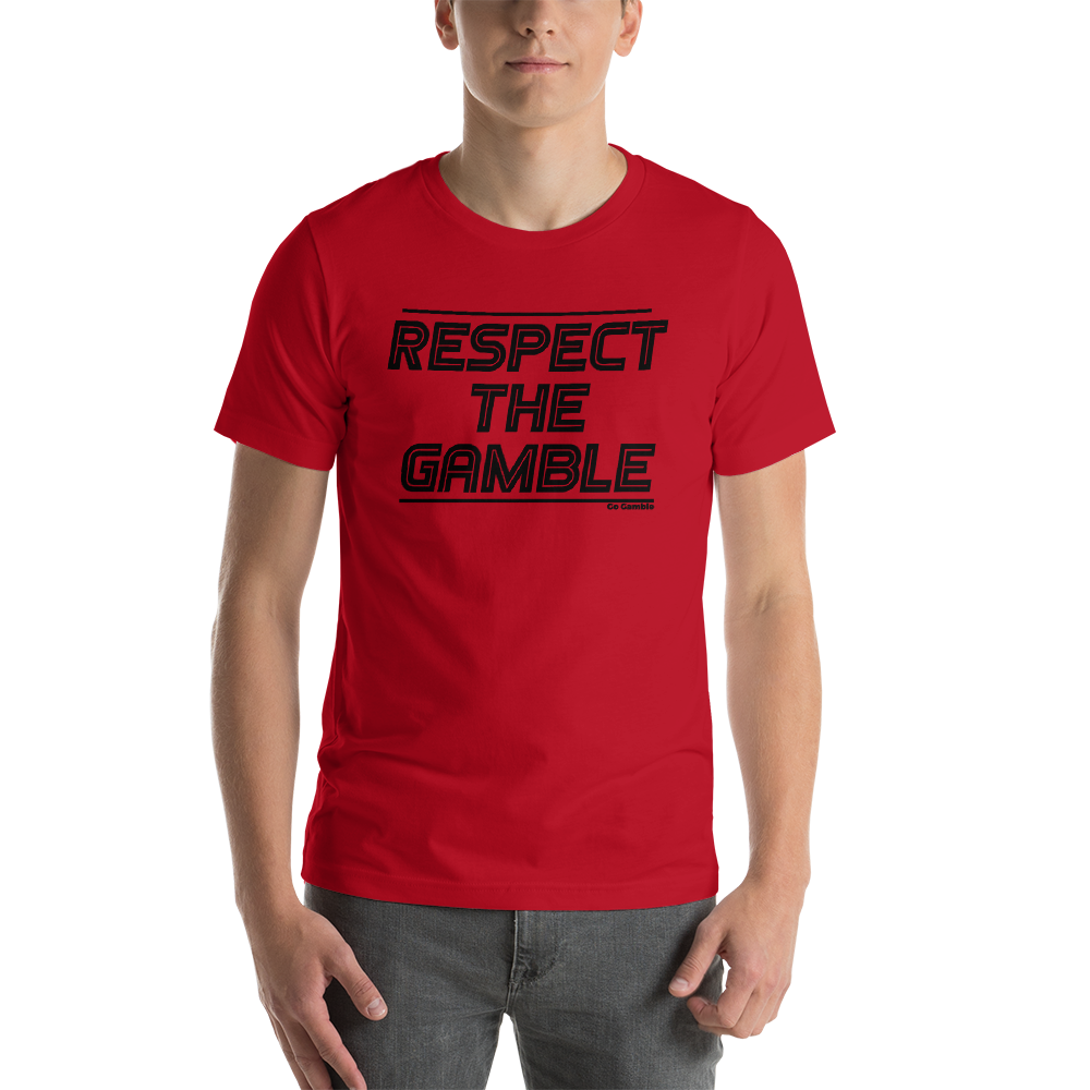 red Respect the Gamble T-Shirt