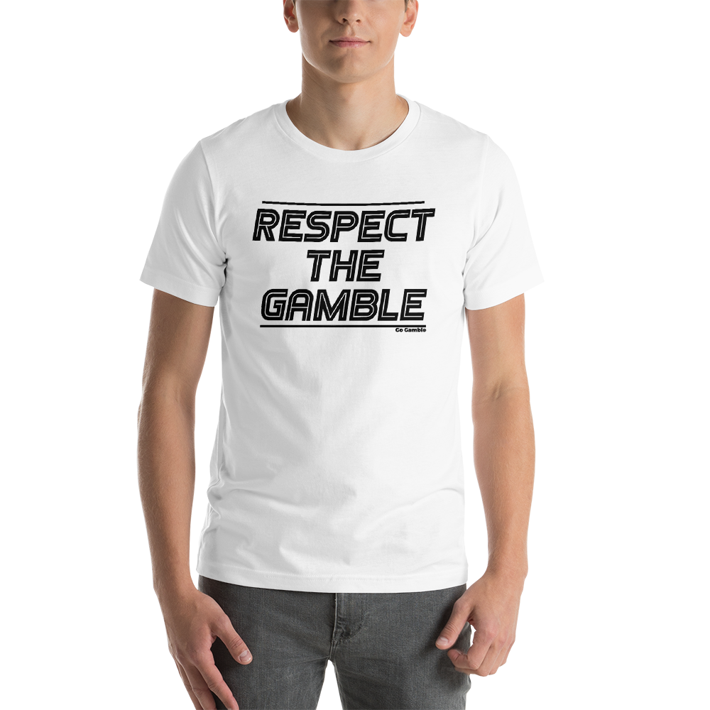 white Respect the Gamble T-Shirt
