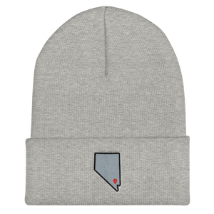 heather grey Location Las Vegas Cuffed Beanie