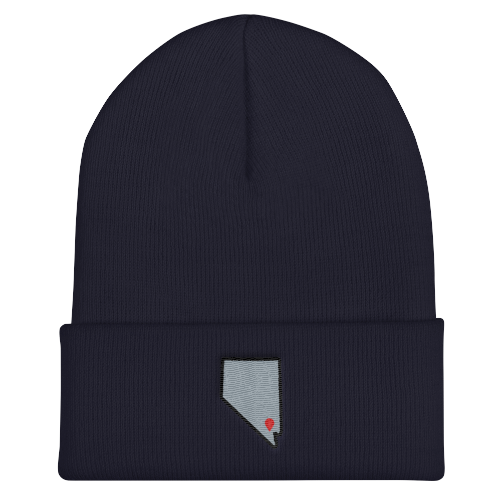 navy Location Las Vegas Cuffed Beanie